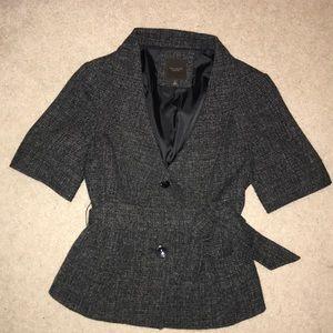 The Limited Tweed Suit Jacket Medium Short Sleeve